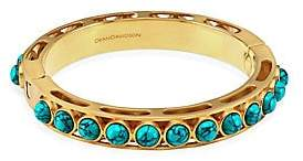 Dean Davidson Women's Nomad Turquoise & 22K Goldplated Bangle Bracelet