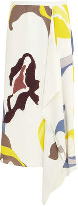 Tibi Abstract Handkerchief Hem Skirt