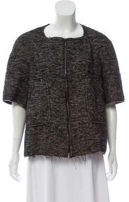 Marni Short Sleeve Wool Cardigan