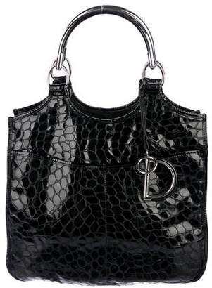 Christian Dior Embossed Patent Leather 61 Tote