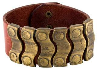 Maison Margiela Studded Leather Cuff