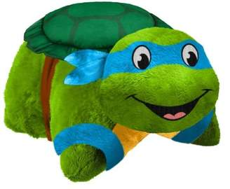 "Leonardo Pillow Pets TMNT Plush 16"" Stuffed Animal Toy"