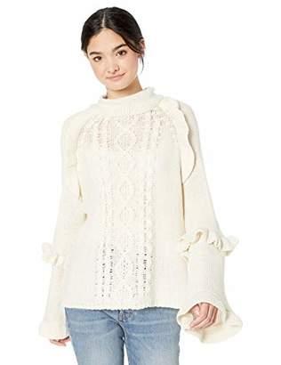 BB Dakota Junior's Power Cable Ruffle Sweater