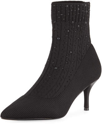 Charles by Charles David Arty Embellished Knit Sock Booties