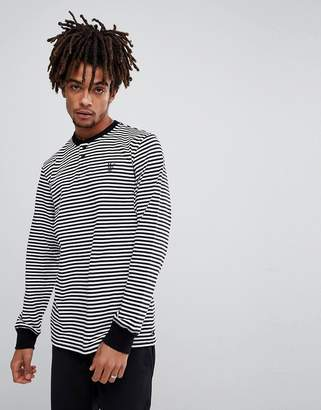 HUF Grayson Long Sleeve Striped Henley T-Shirt
