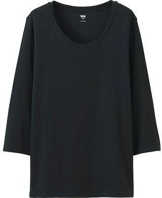 UNIQLO Women's Supima-« Cotton 3/4 Sleeve Crew Neck T-Shirt $14.90 thestylecure.com
