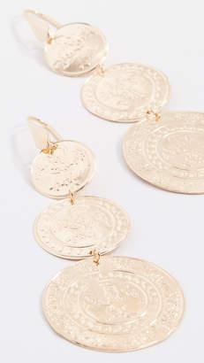 Bronzallure Vintage Coin Drop Earrings