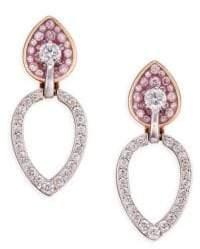 Pleve Opus Diamond& 18K Gold Pear Stud& Ear Jacket Set