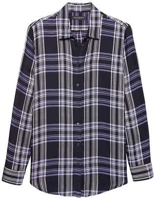 Banana Republic Petite Dillon Classic-Fit Plaid Flannel Shirt