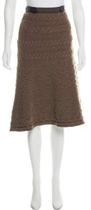 Etro Wool Cable Knit Skirt