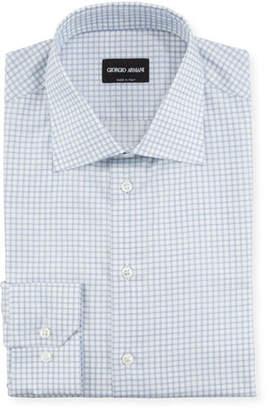 Giorgio Armani Men's Check Dress Shirt