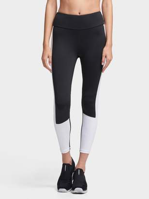 DKNY Cropped High-Waist Colorblocked Legging