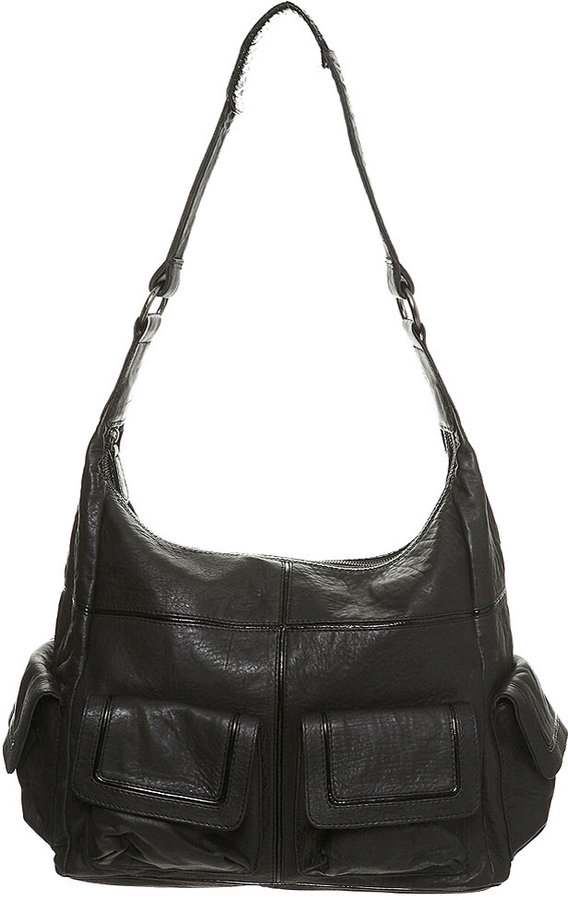 Patent Trim Leather Bag