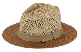 Block Headwear Open Weave Braided Straw Sun Hat