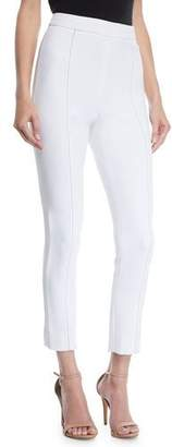 Cushnie et Ochs High-Waist Stretch-Cady Cigarette Pants w/ Topstitching