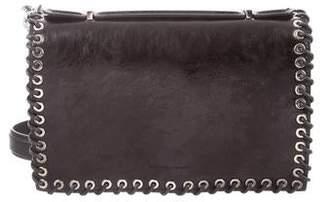 Calvin Klein Embossed Leather Shoulder Bag