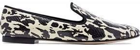 Giuseppe Zanotti Dalila Printed Snake-Effect Leather Slippers
