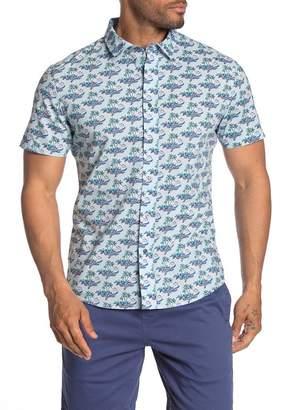 Slate & Stone Short Sleeve Point Collar Trim Fit Shirt