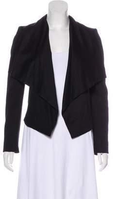 Alice + Olivia Structured Leather-Panel Jacket