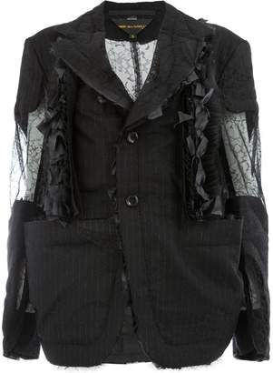 Comme des Garcons cut out ripped blazer