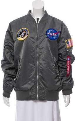 Alpha Industries Patch-Accented Bomber Jacket