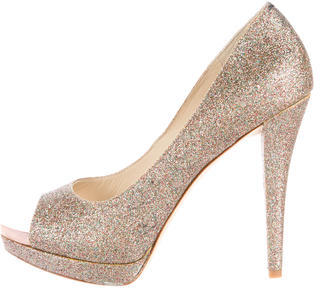 Vera Wang Lavender Label Glitter Selima Pumps w/ Tags $85 thestylecure.com