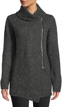 Shanty Central Park Cowl-Neck Zip-Front Jacket