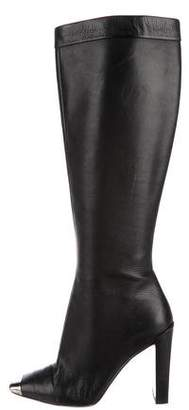 Christian Dior Leather Knee-High Boots