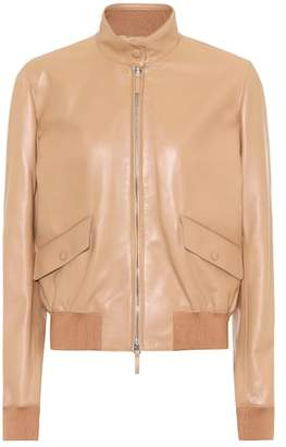 The Row Erhly leather jacket