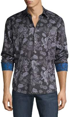 Robert Graham Classic-Fit Botanical-Print Shirt