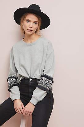 Design History Fringed Sweatshirt