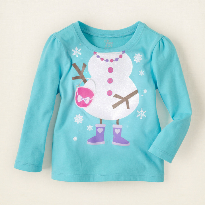 Children's Place Snow girl graphic tee