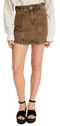 Free People Topstitch Detail Miniskirt
