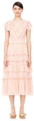 Rebecca Taylor Mixed Metallic Clip Dress