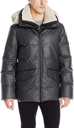 Soia & Kyo Men's Pierrick Down Coat with Fur Lined Hood