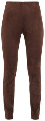 Max Mara Eros Leggings - Womens - Dark Brown