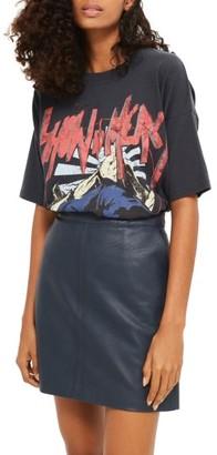 Women's Topshop Faux Leather Skirt $60 thestylecure.com