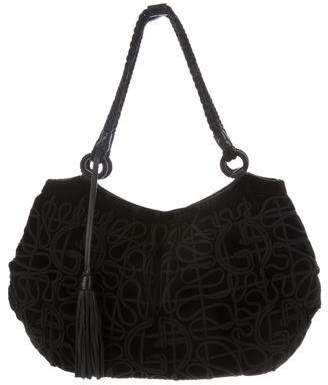 Giorgio Armani Velvet Embroidered Bag