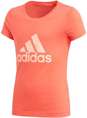 adidas Plain Short-Sleeved Crew Neck T-Shirt