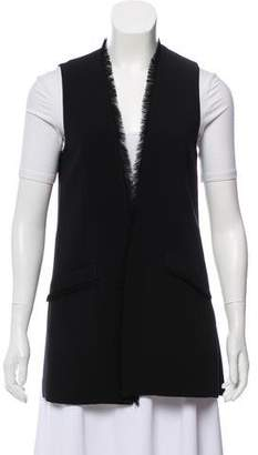 Elizabeth and James Fringe-Accented Oversize Vest