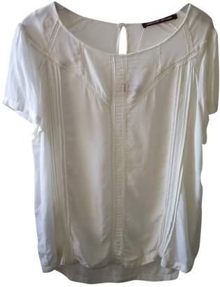 Comptoir des Cotonniers White Silk Top for Women