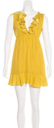 Amanda Uprichard Silk Ruffle Dress