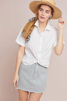 Maeve Cropped Poplin Top