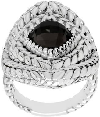 Tiffany & Co. Kay Studio Sterling Textured & GemstoneRing