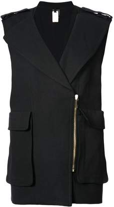 Thomas Wylde large pocketed sleeveless jacket