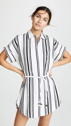 Plush Striped Linen Beach Dress