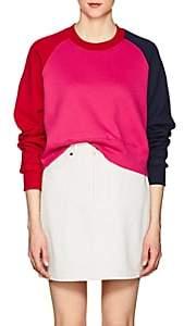 Cédric Charlier Women's Colorblocked Cotton Fleece Sweatshirt - Fushia