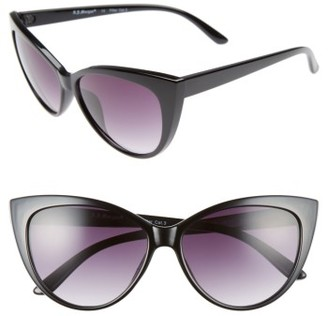 Women's A.j. Morgan Spicy 53Mm Cat Eye Sunglasses - Black $24 thestylecure.com