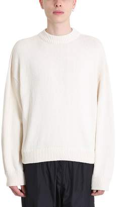 Our Legacy Sonar Roundneck White Cotton Sweater