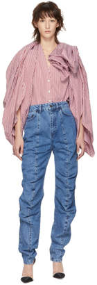 Y/Project Blue Ruffle Jeans